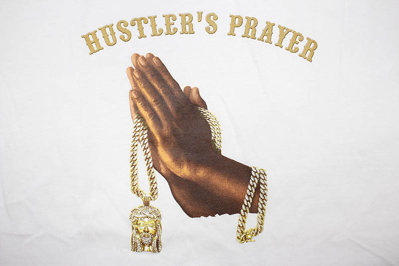 CLASSIC MATERIAL NY HUSTLER'S PRAYER T-SHIRT (WHITE)