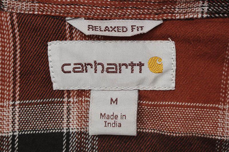 Carhartt RUGGED FLEX RELAXED FIT FLANNEL FLEECE-LINED PLAID SHIRT (104450/R18:IRON ORE)