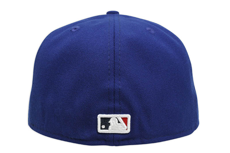 NEW ERA LOS ANGELES DODGERS 59FIFTY FITTED CAP (PALM TREE/PINK UNDER VISOR/DARK ROYAL)