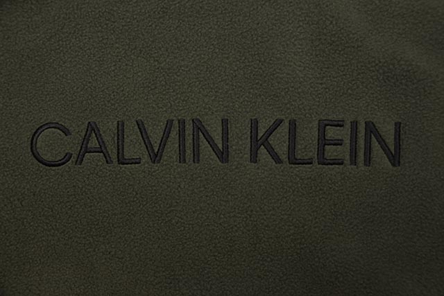 CALVIN KLEIN JEANS POLAR FLEECE LOGO CROSSOVER HOODIE (41T9089-318:DEEP DEPTHS)