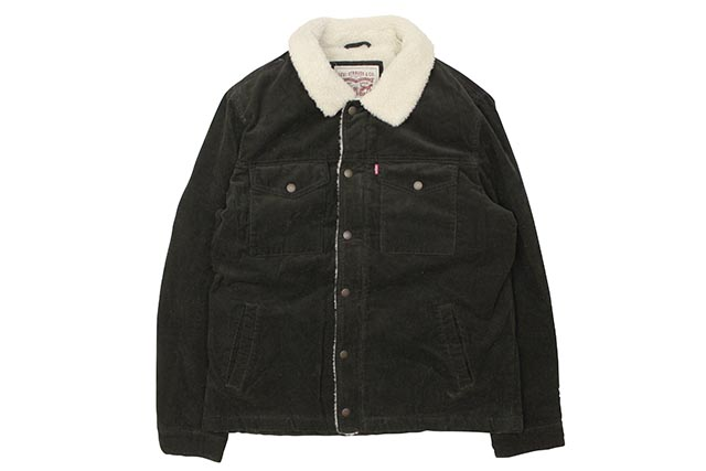 LEVI'S CORDUROY SHERPA LINED TRUCKER JACKET (LM8RC530:OLIVE)