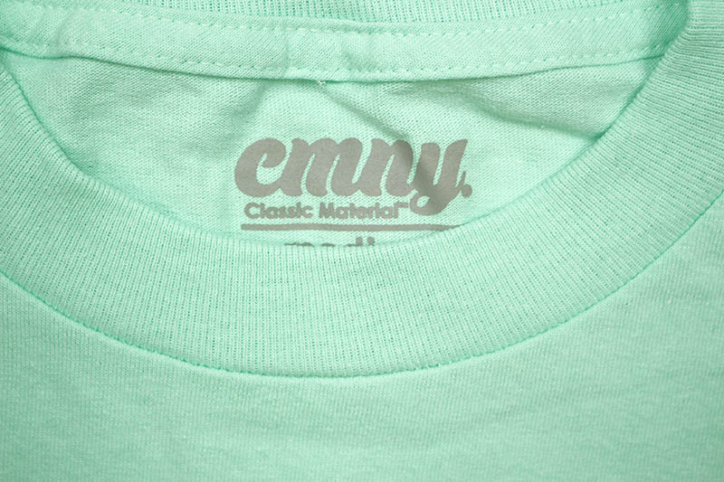 CLASSIC MATERIAL NY SUNFLOWER SEEDS & QUARTER WATERS T-SHIRT (CELADON)