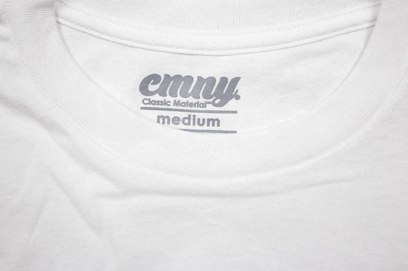 CLASSIC MATERIAL NY SUNFLOWER SEEDS & QUARTER WATERS T-SHIRT (WHITE)