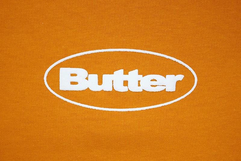 BUTTER GOODS PUFF BADGE LOGO TEE (ORANGE)