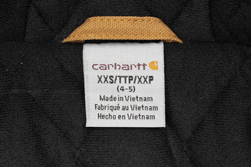 Carhartt FLANNEL QUILT LINED ACTIVE JACKET (CP8545 D15/210:CARHARTT BROWN)