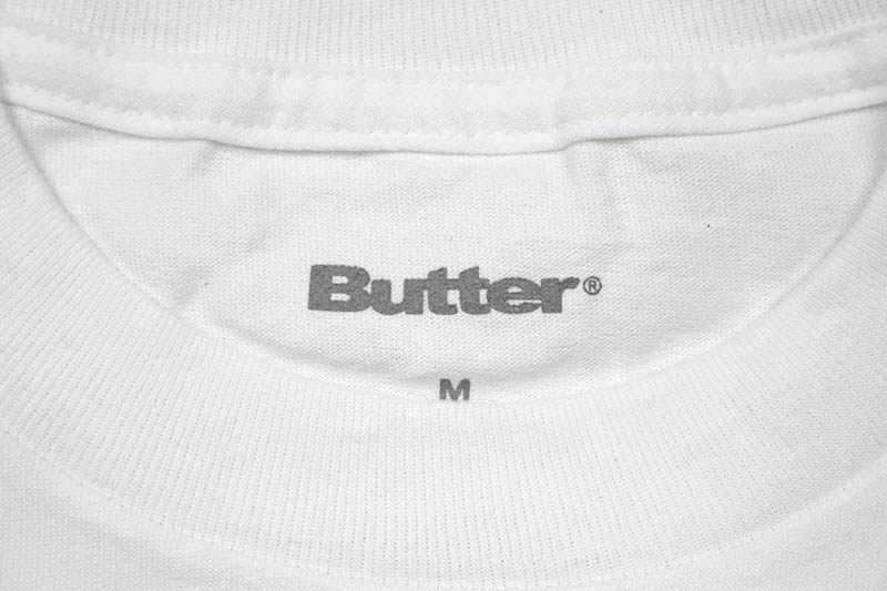 BUTTER GOODS PUFF BADGE LOGO TEE (WHITE)