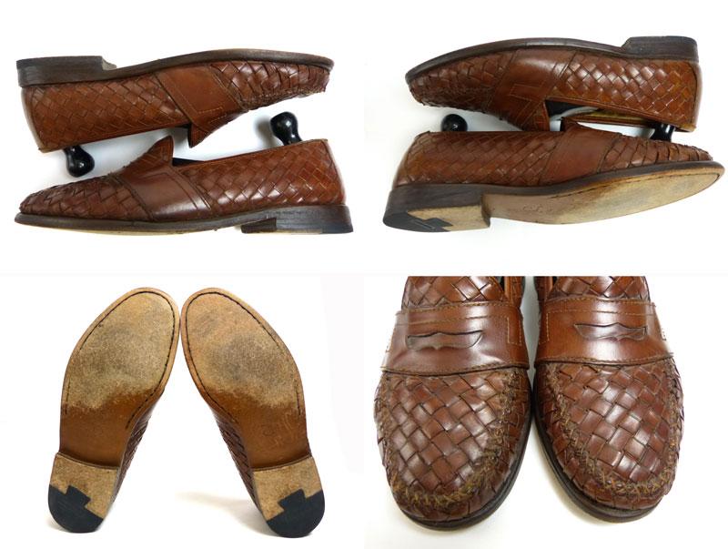 コールハーン COLEHAAN 編み込みコイン(ペニー) ローファー 9 1/2M(27.5cm相当)( メンズ )(紳士靴)【中古】