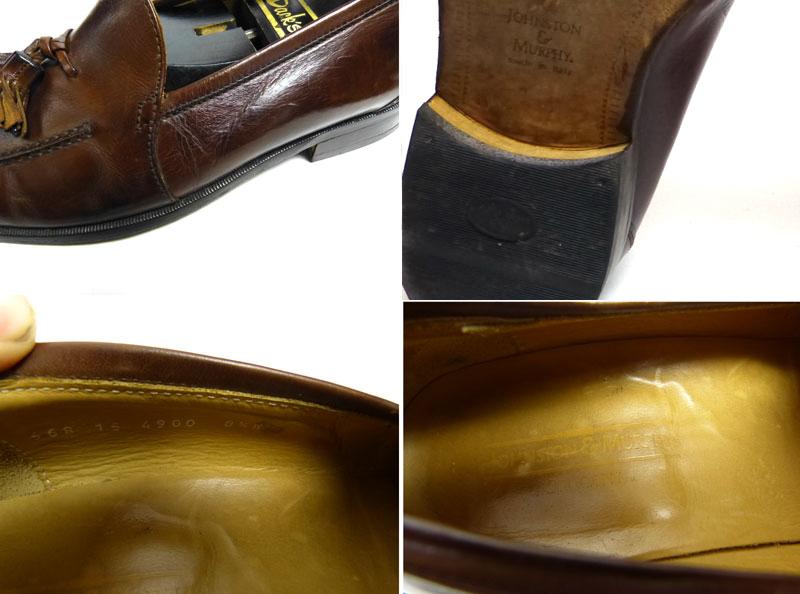 イタリア製 ジョンストン&マーフィー JOHNSTON&MURPHY CELLINI タッセルローファー 8 1/2W(27cm相当)( メンズ )【中古】