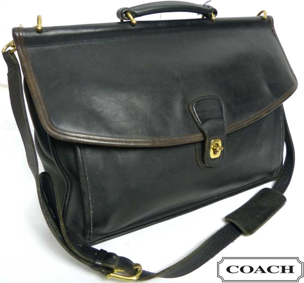 OLD COACH コーチ 本革レザー ブリーフケース /ビジネスバッグ /ショルダーバッグ (メンズ)【中古】【送料無料】
