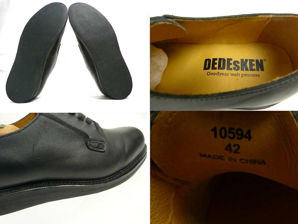 【未使用品】DEDEsKEN デデスケン プレーントゥ / オックスフォードシューズ 42(26cm相当)(メンズ) (デッドストック)【中古】