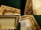 レトロ ヴィンテージ オールド シャビーな金額縁 木製フレーム  (油彩額縁)【中古】