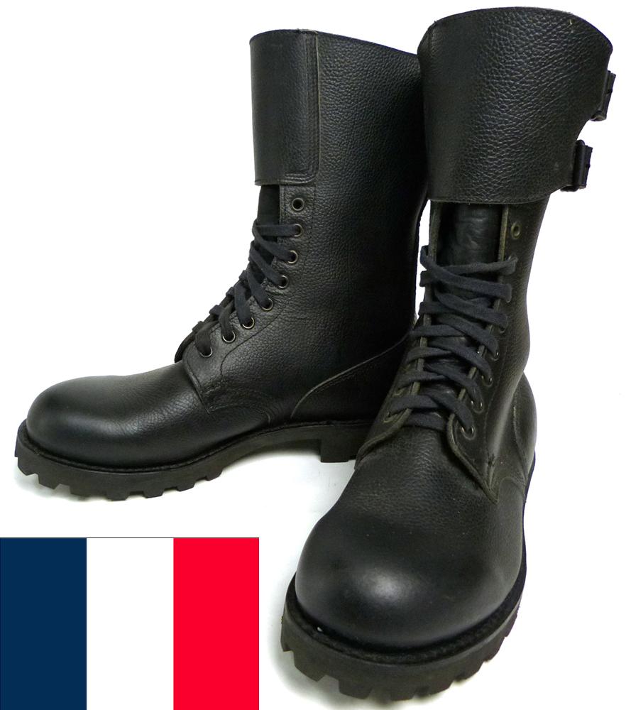 【希少】フランス製 フランス軍 ダブルバックル コマンド /コンバットブーツ 43(27.5cm相当)(メンズ)【中古】【送料無料】