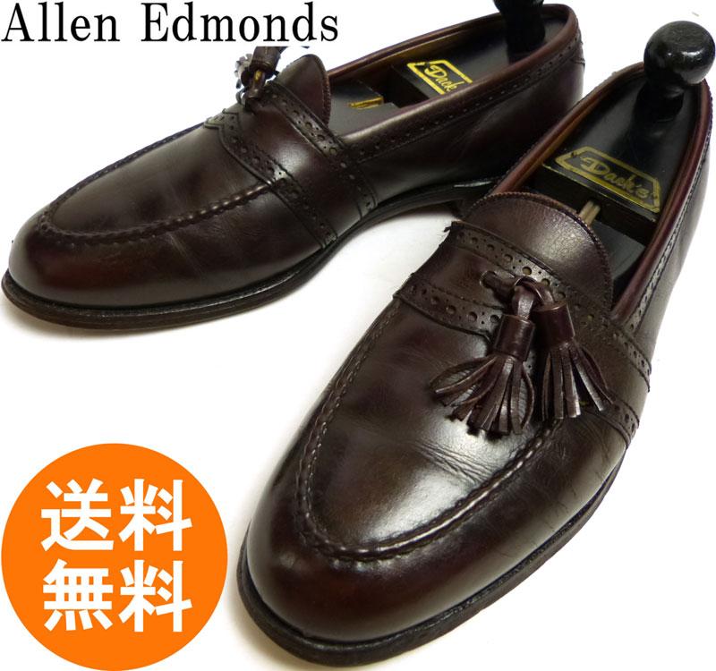 【訳あり】アレンエドモンズ Allen Edmonds Harvard USA製本革 タッセルローファー 9  1/2C(27.5cm相当)【中古】
