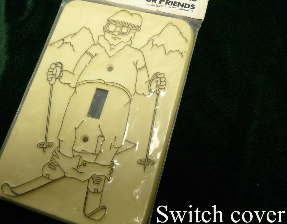 【未使用】1980s USA スキー スイッチカバー / スイッチプレート / コンセントカバー(デッドストック)【中古】【メール便対応可】
