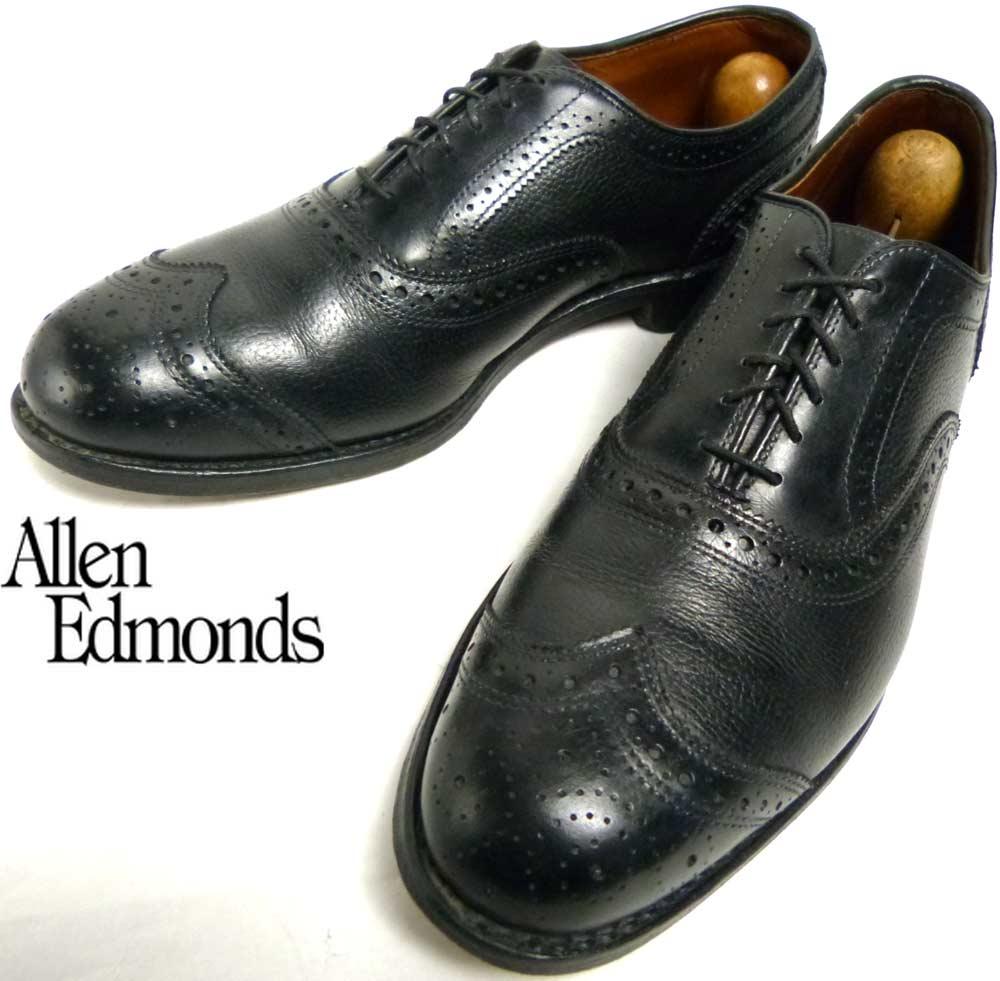 USA製アレンエドモンズ Allen Edmonds Hamptons ウイングチップシューズ 8 1/2D(26.5cm相当)(メンズ)【中古】【送料無料】