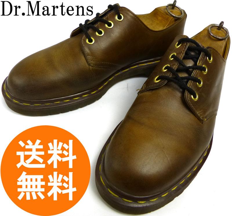 ドクターマーチン Dr.Martens 英国製 4ホールシューズ UK9(27.5cm相当)(メンズ)(茶 ブラウン)【中古】【送料無料】