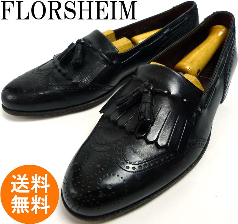 【希少】フローシャイム Florsheim Royal Imperial ロイヤルインペリアル タッセルローファー 7 1/2D(25.5cm相当)(メンズ)【中古】