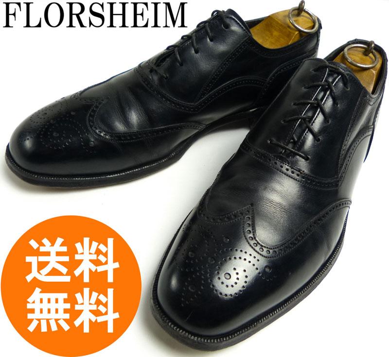 【希少】フローシャイム Florsheim Royal Imperial ロイヤルインペリアル ウィングチップシューズ 10 1/2D(28.5cm相当)(メンズ)【中古】
