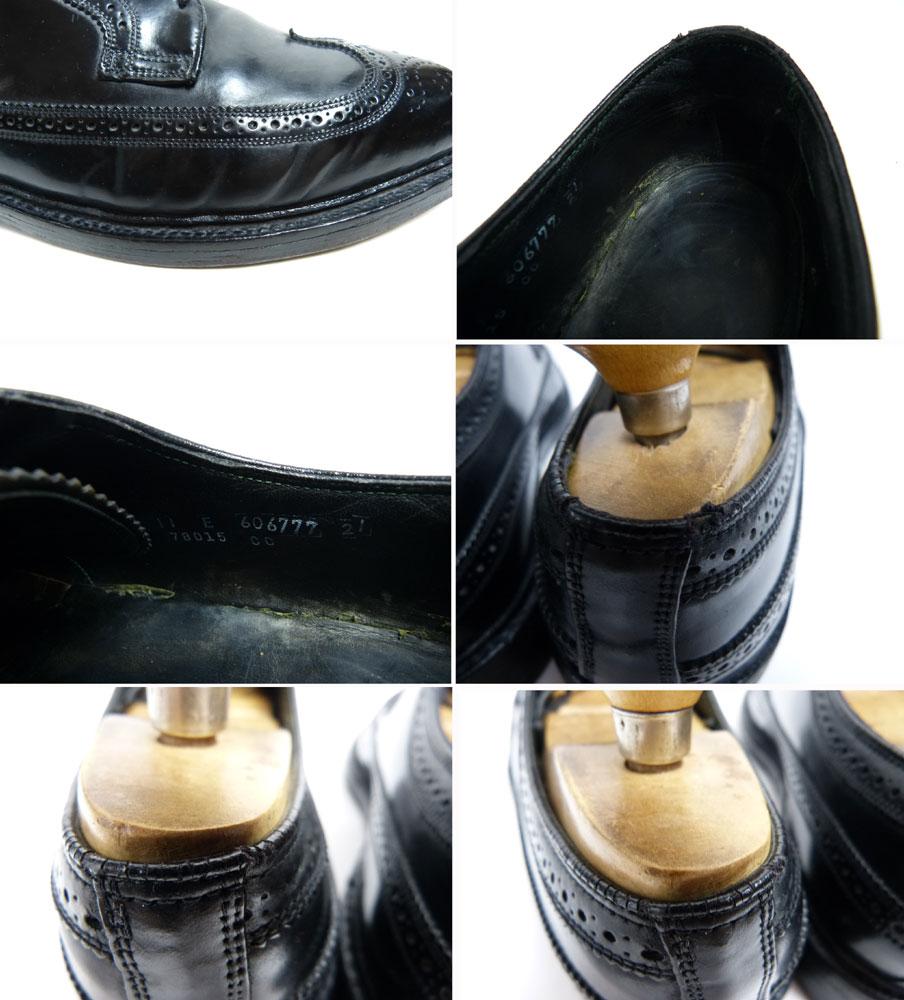 【希少】コードバン フローシャイム Florsheim ロングウィングチップシューズ 11E(29cm相当)(メンズ)(紳士靴)【中古】【送料無料】