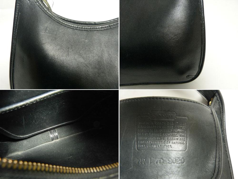 USA製オールドコーチ 本革レザー ハンドバッグ/トートバッグ  OLD COACH (黒/ブラック)【中古】【送料無料】
