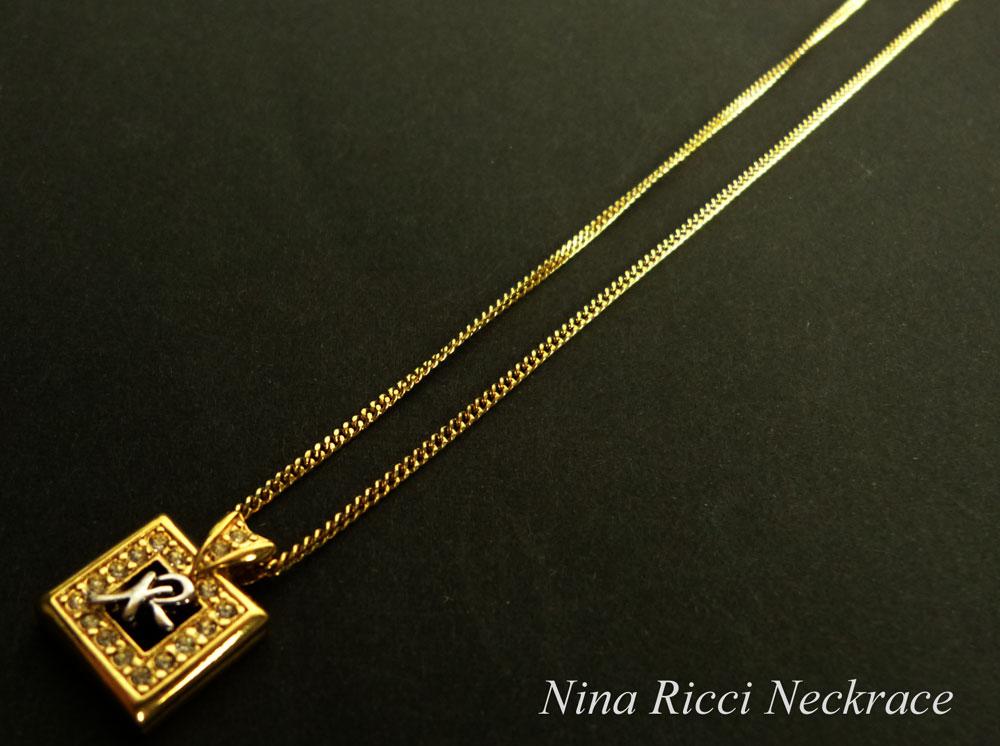 NINA RICCI/ニナリッチ アクセサリー ゴールドペンダントネックレス 【中古】【メール便対応】