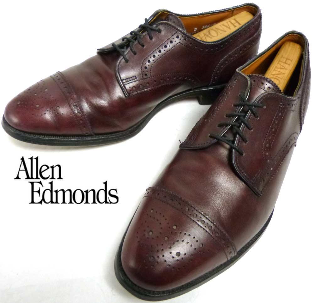 USA製アレンエドモンズ Allen Edmonds Sanford ストレートチップシューズ 10D(28cm相当)(メンズ)【中古】【送料無料】