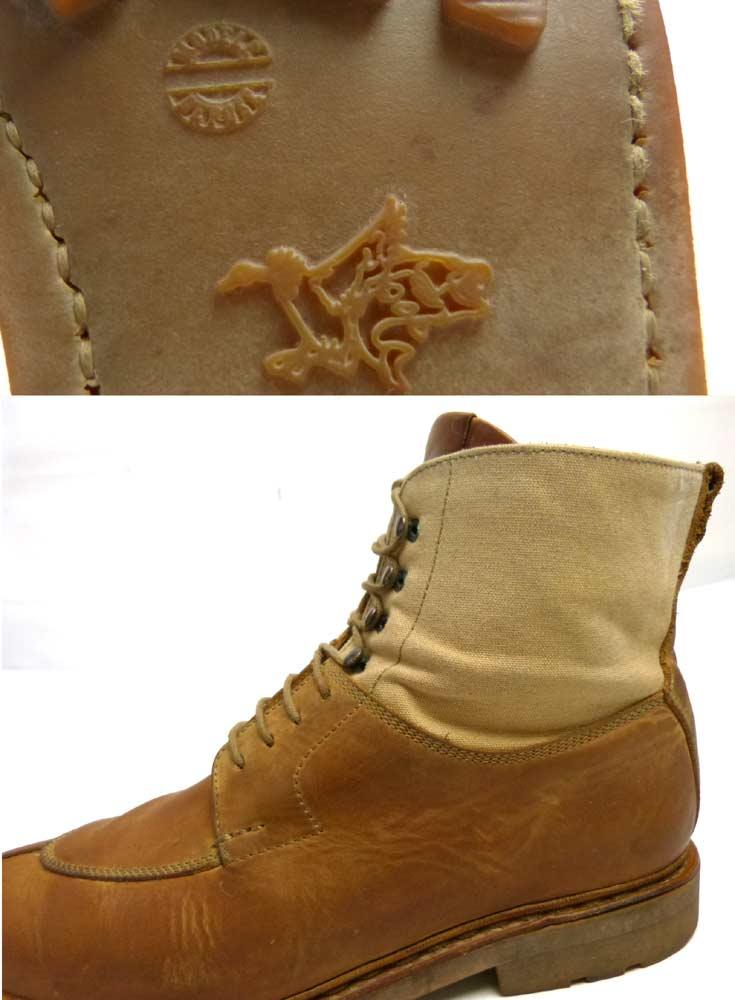 エシュン HESCHUNG レザー×キャンバス Uチップブーツ 6 1/2(25cm相当)(メンズ)【中古】【送料無料】