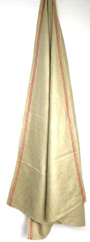 1940年代頃 フランス アンティーク リネンクロス / リメイク生地(288×80cm)【中古】