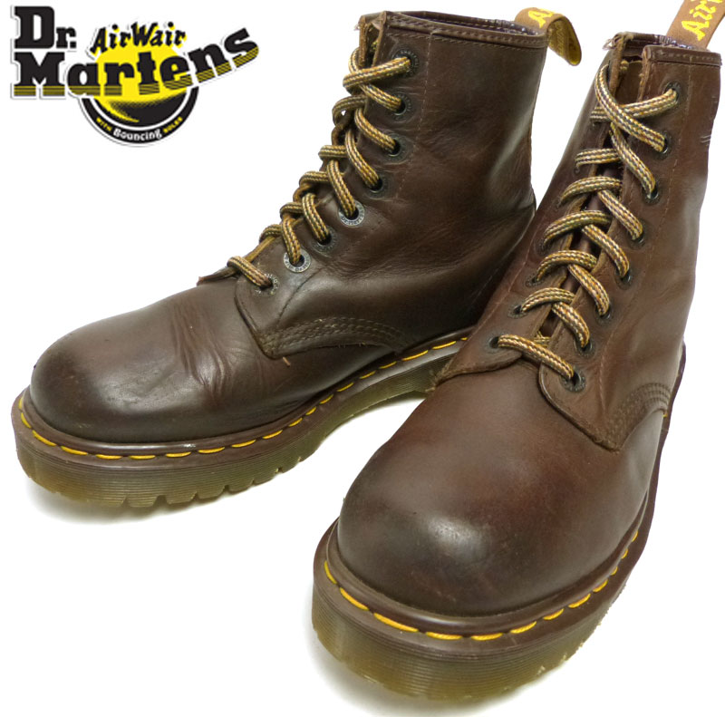 英国製ドクターマーチン Dr.Martens 8ホールブーツ7(25.5cm相当) (メンズ) 【中古】【送料無料】