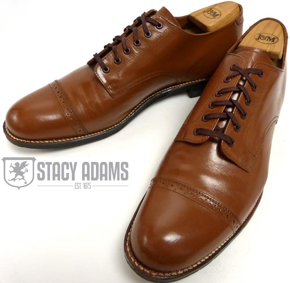 ステイシーアダムス STACY-ADAMS ストレートチップドレスシューズ US9 1/2D(27.5cm相当)(メンズ)【中古】【送料無料】