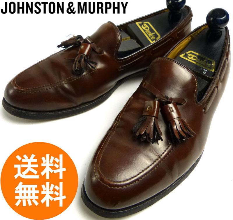 ジョンストン&マーフィー Johnston&Murphy タッセルローファー  9 D/B(27cm相当)( メンズ )( 濃茶/ダークブラウン )【中古】