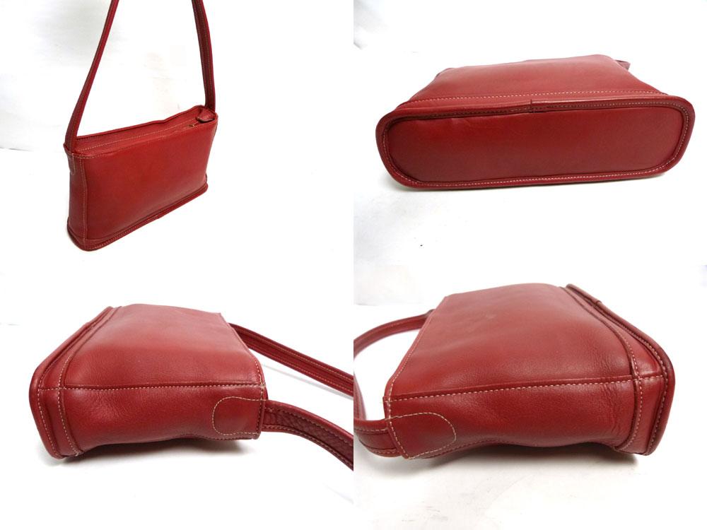USA製オールドコーチ 本革レザー ハンドバッグ/トートバッグ  OLD COACH (赤/レッド)【中古】