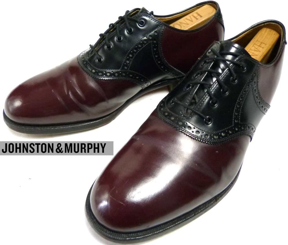 ジョンストン&マーフィー JOHNSTON&MURPHY サドルシューズ 9EEE/E (27.5cm相当)(メンズ)【中古】