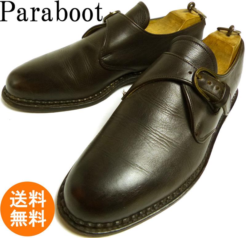 フランス製 paraboot パラブーツ シングルモンクストラップ シューズ  8 1/2(27cm相当)(メンズ)【中古】【送料無料】
