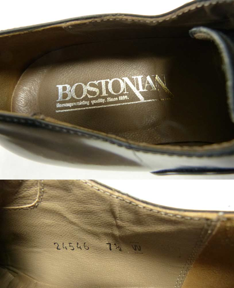 イタリア製ボストニアン BOSTONIAN プレーントゥーシューズ 7 1/2W(25.5-26cm相当)(メンズ)【中古】