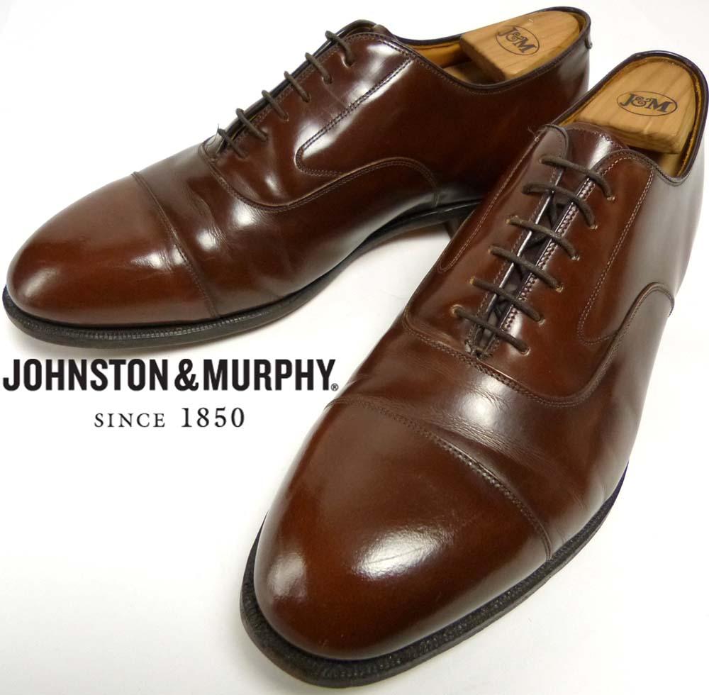 USA製ジョンストン&マーフィー Johnston & Murphy OPTIMA キャップトゥシューズ 10  3E/E(28-28.5cm相当)(メンズ)【中古】【送料無料】