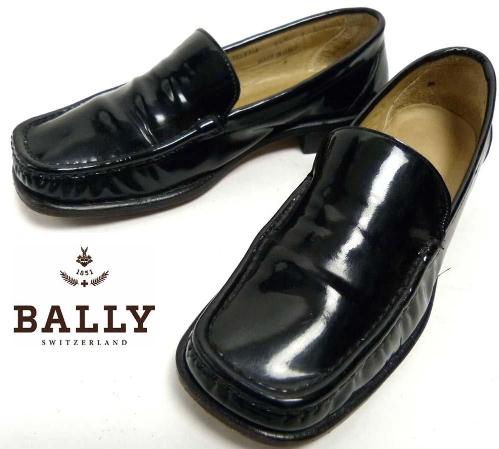 イタリア製 BALLY バリー スクウェアトゥ エナメル ローファー 3 1/2F(22.5cm相当)(レディース)【中古】