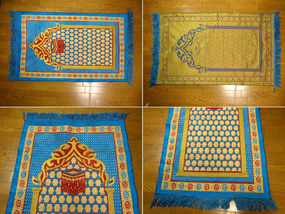 104×63cm トルコ製 プレイヤーラグマット / カーペット / 絨毯【中古】