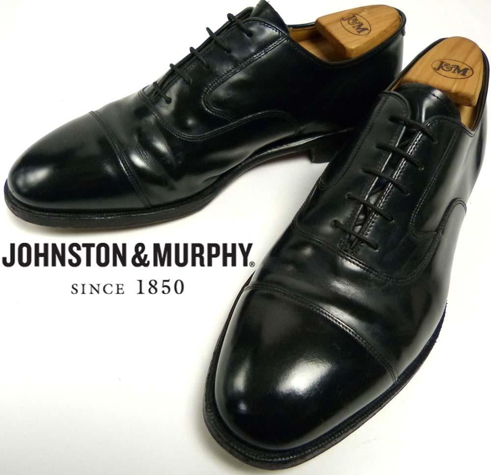 ジョンストン&マーフィー Johnston & Murphyキャップトゥシューズ 8 1/2  3E(26.5-27cm相当)(メンズ)【中古】