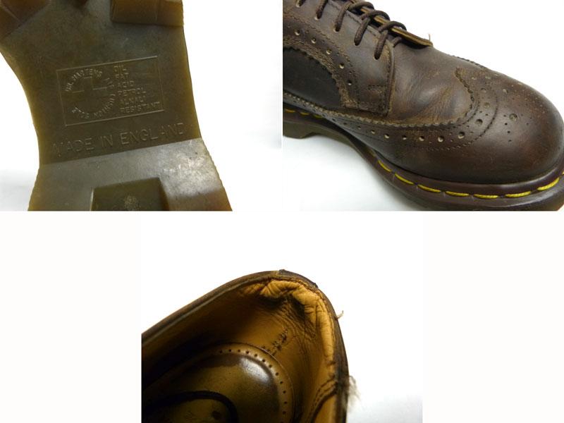 英国製ドクターマーチン Dr.Martens 5ホールウイングチップシューズ UK5(23.5cm相当) (レディース)【中古】