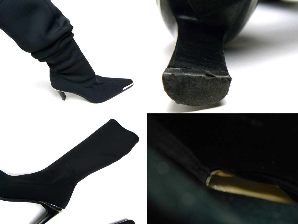 ブルーノマリ BRUNO MAGLI ソックスロングブーツ 35(22.5cm相当) (レディース)(箱付き)【中古】