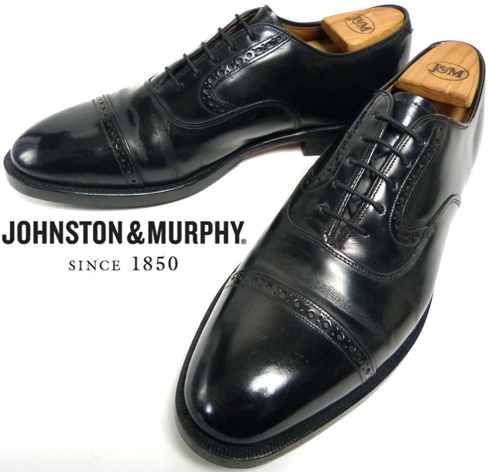 USA製ジョンストン&マーフィー Johnston & Murphy Heritage パンチドキャップトゥ シューズ 10B/2A(26.5-27cm相当)(メンズ)【中古】【送料無料】
