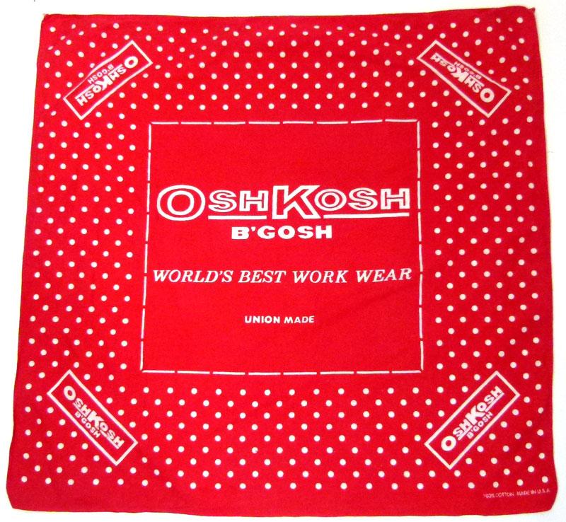 1970s OSH-KOSH(オシュコシュ)ドット柄 バンダナ 【中古】【メール便可】