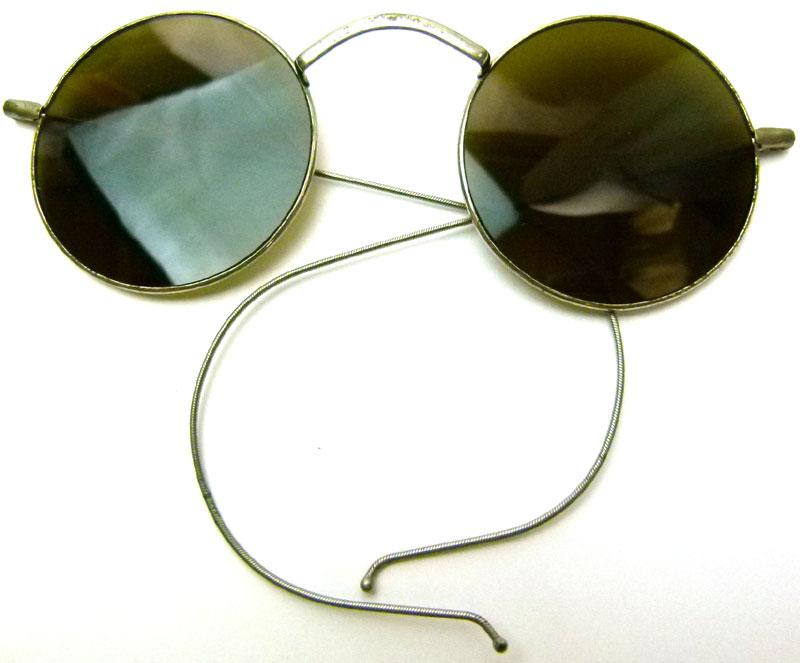 ビンテージ雑貨1930'sWILLSONビンテージ丸メガネ(フルリムフレーム)( メンズ )【中古】