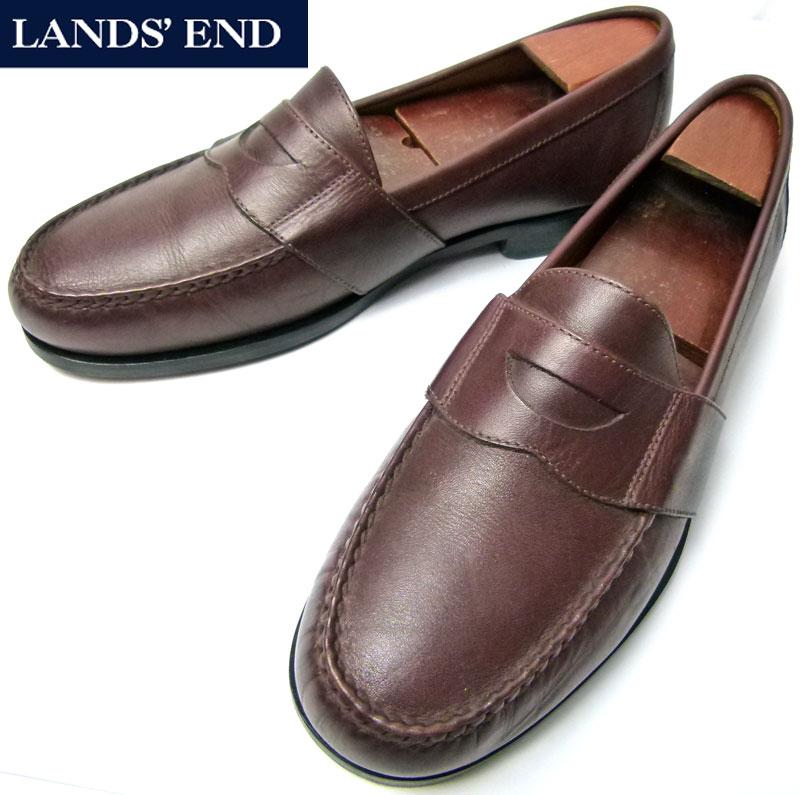 LANDS'END / ランズエンドUSA製本革レザーコイン(ペニー)ローファー  10M(28cm相当)( メンズ )【中古】