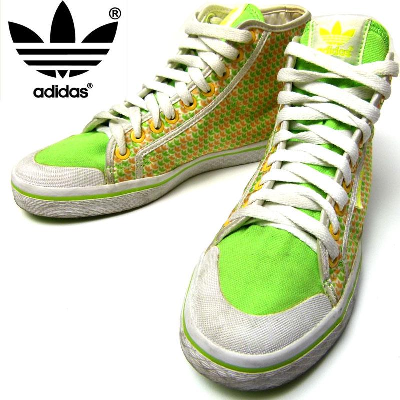 adidas / アディダス ハイカットナイロンスニーカー7 1/2(24.5cm相当)( レディース )【中古】【日本未発売モデル】
