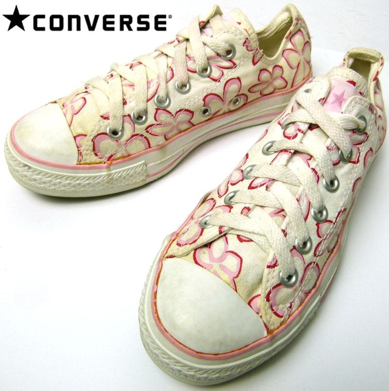 【converse/コンバース】ALLSTAR/オールスターローカット(花柄)スニーカー5(24cm相当)( レディース )【中古】