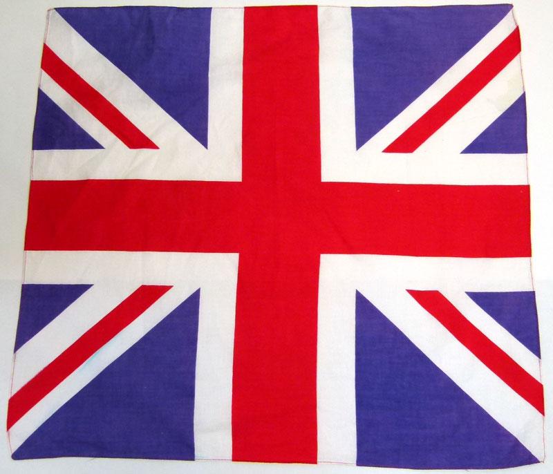 イギリス(英国)国旗 ユニオンジャック 柄 バンダナ 【中古】