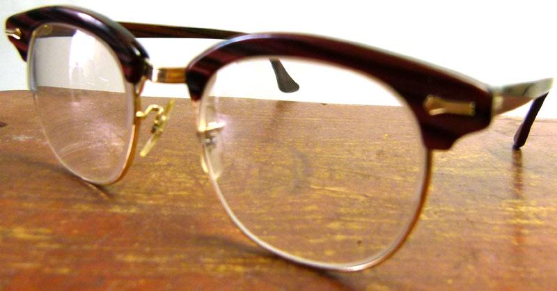 40〜50s USA製 SHURON シュロン ヴィンテージ眼鏡 メガネ( メンズ )【中古】【送料無料】
