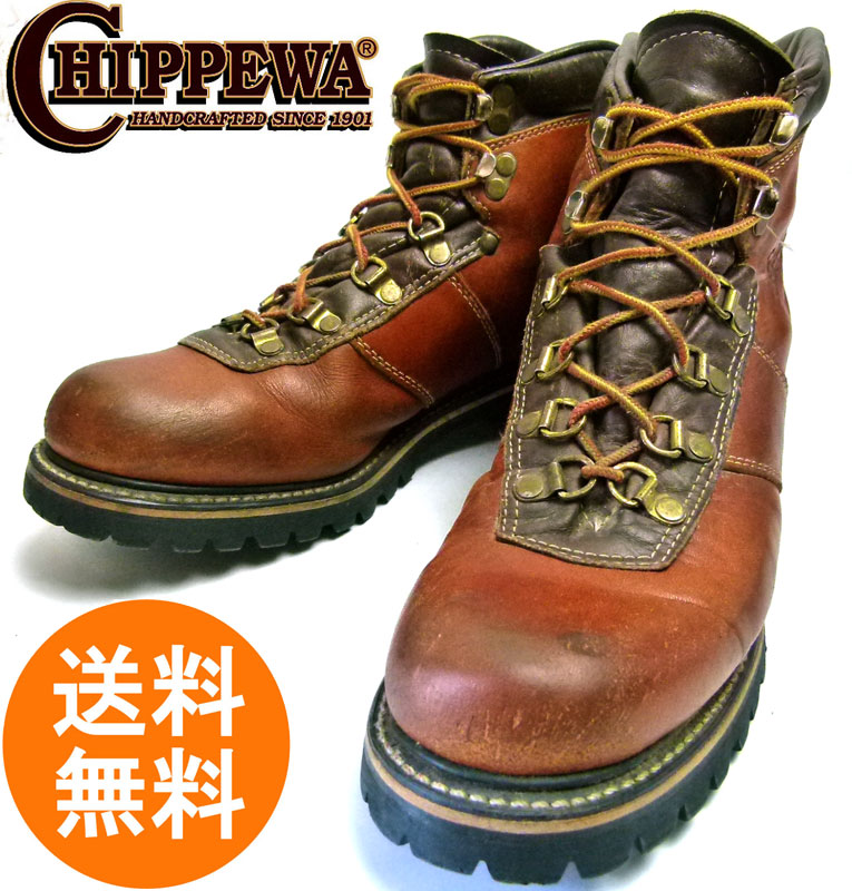 70s チペワ CHIPPEWA MASON マウンテンブーツ 9 1/2A(26.5cm相当)( メンズ )【中古】【送料無料】